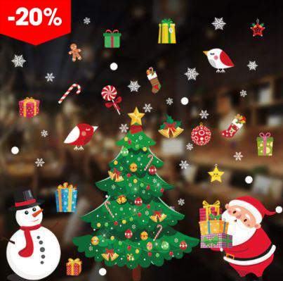 """ 70x50 cm "" Sticker Decals - 2020 Merry Christmas Window Decorations"