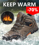 Super Warm Waterproof Snow Leather Boots
