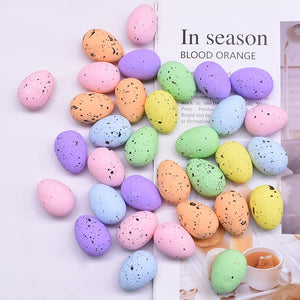 10/20/30Pcs 3x4cm Painted Foam Bird Pigeon Eggs Happy Easter Colorful Egg Decoration Home Festival Ornament Kids Gift Favor