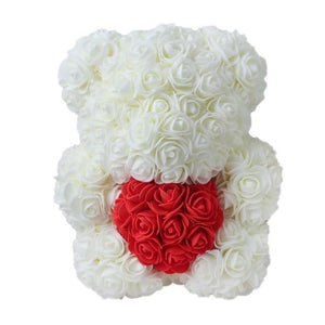 Valentines Romantic Gift box PE Rose Bear Artificial Rose Decorations Cute Cartoon Mother's day gift