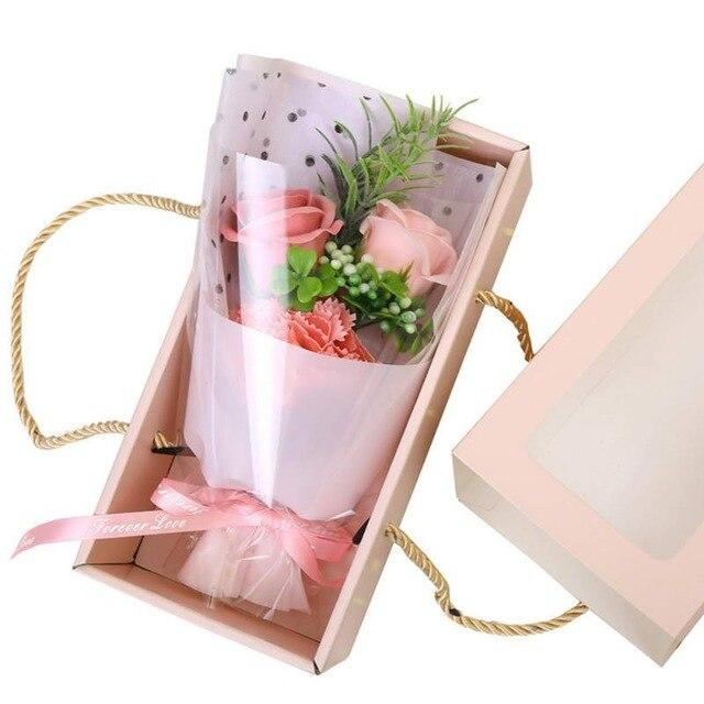 Creative Gift Artificial Flower Bouquet Scented Soap Roses Romantic Birthday Mother's Day Valentine's Days Gift Box