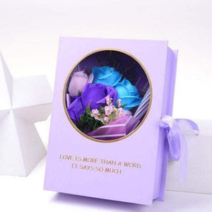 Valentine's Day Eternal Flower Rose Bouquet with Gift Box Mother's/Teacher's Day Birthday Gift