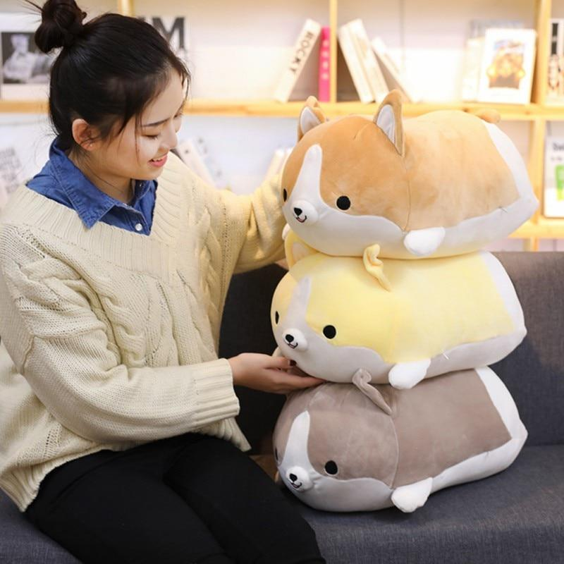 Cute Corgi Dog Plush Toy Stuffed Soft Animal Cartoon Pillow Lovely Valentine Gift for Kids Kawaii Valentine Present0
