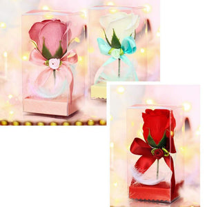 Creative Valentines Day Rose Flower Scented Soap Bath Body Petal Perfumed Soaps Valentine Day Wedding Decoration