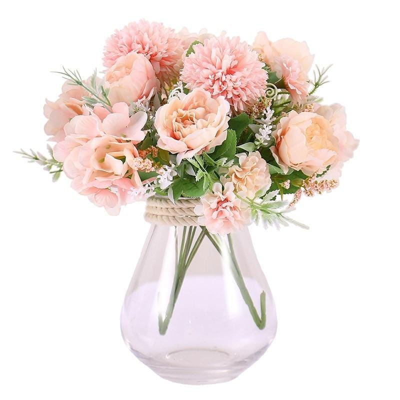 Artificial Fake Western Rose Flower Peony Bridal Bouquet Wedding Home Decor artificial flowers valentines day gift CHEAP