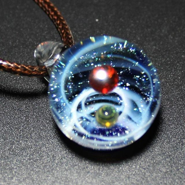 10 Type Universe Glass Bead Planets Pendant Necklace Galaxy Rope Chain Solar System Design Necklace for Women Valentine\'s Gift1