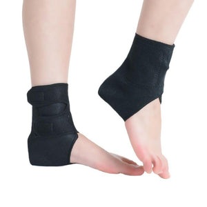 With Spontaneous Magnetic Self-Heating Ankle Support