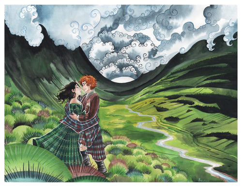 In the Highlands Wood Print