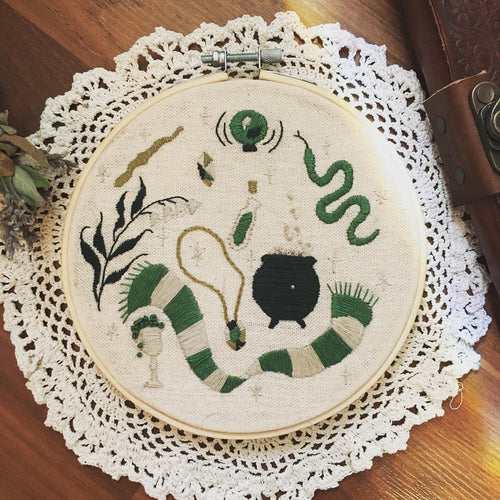 Slytherin Aesthetic Embroidery