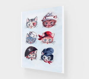 "Pirate Kitties 11"" x 14"" Acrylic Print"