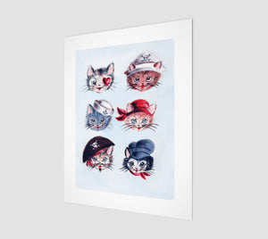 "Pirate Kitties 11"" x 14"" Art Print"