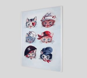 "Pirate Kitties 11"" x 14"" Poster"