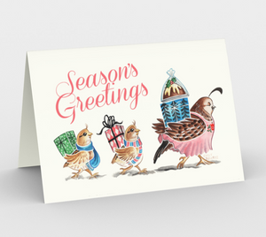 Season's Greetings Card 3 pack