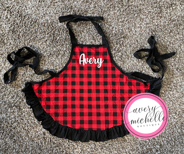 BLANK Buffalo Plaid Aprons