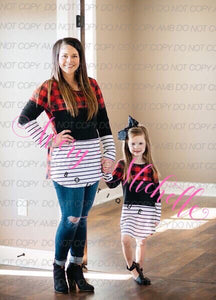 Mom & Me Buffalo Plaid Tunic