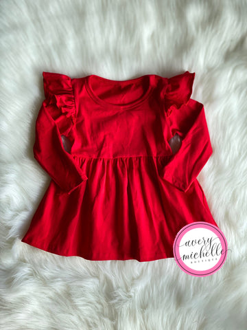 Red Flutter Tunic (3M, 6M)