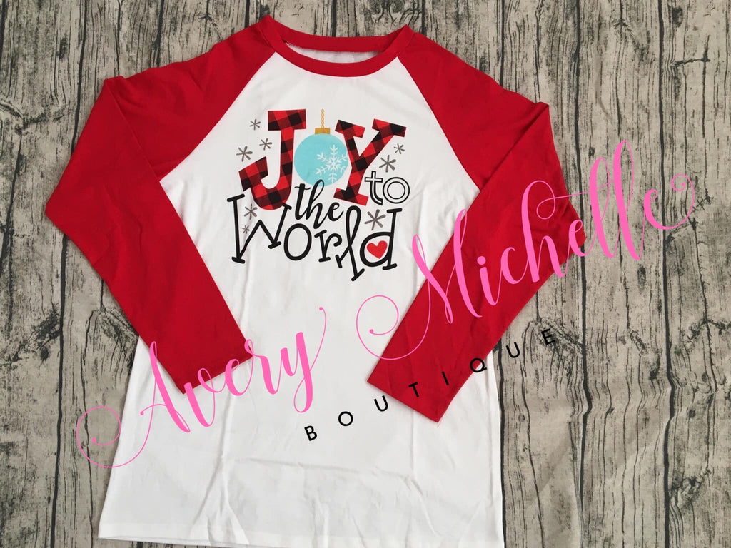 Ladies Joy to The World Raglan