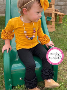 Mustard Icing Sleeve Top
