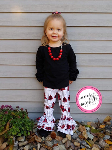 Buffalo Plaid Tree Truffle Leggings (6/7)