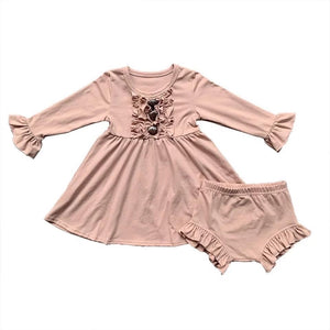 Pink Lap Dress with Bummies