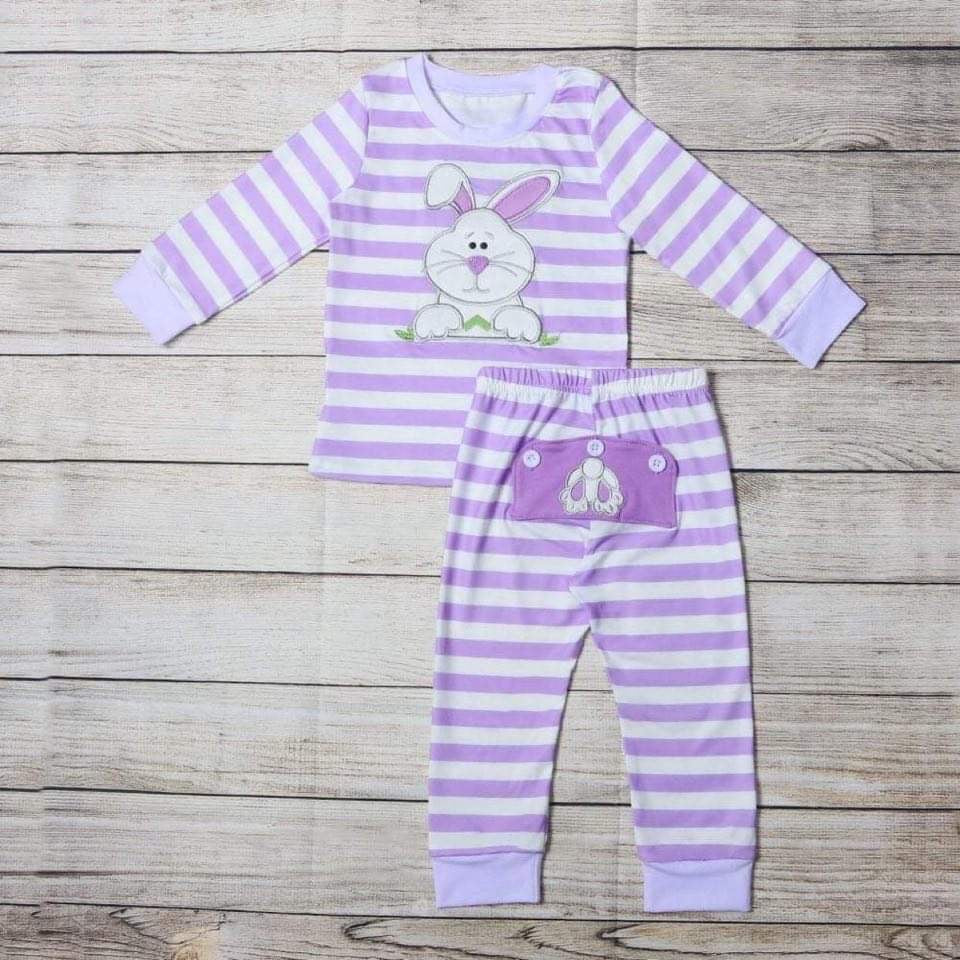 Purple Embroidered Bunny Loungewear
