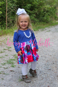 Royal Blue Floral Dress