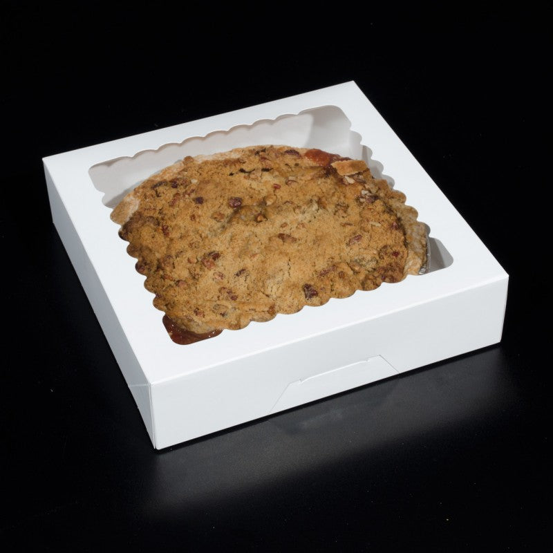 10 X 10 X 2.5 - Pie Box / Cookie Box - With Window (10 PACK)