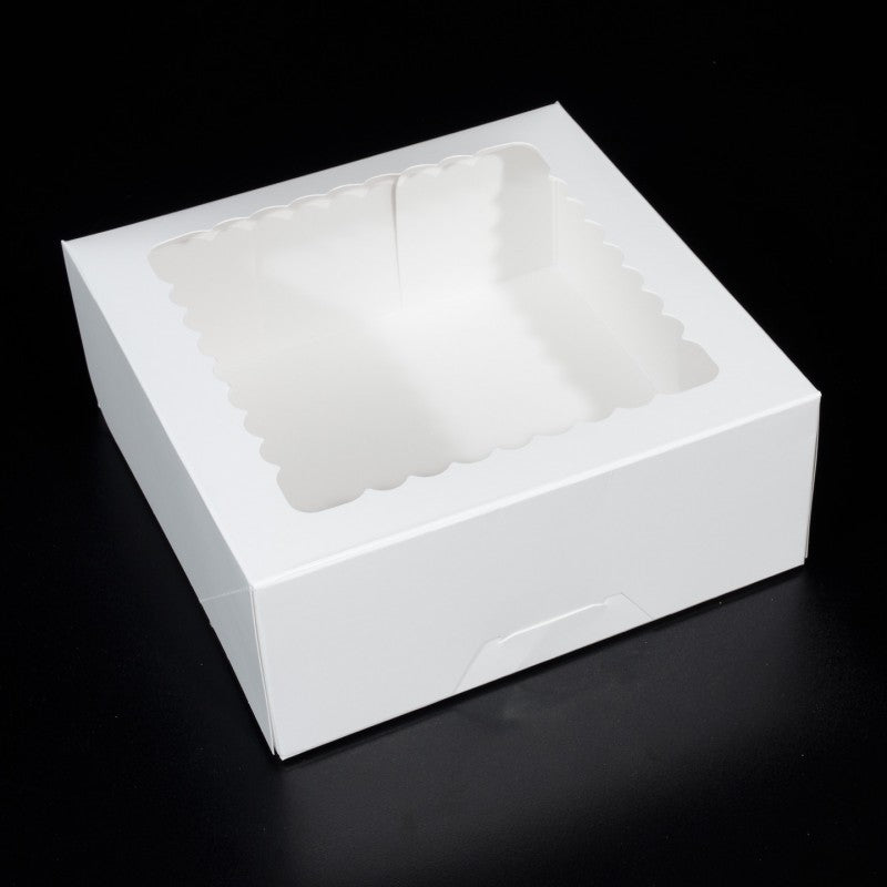 10 X 10 X 4 - Cake Box / Pie Box / 1/2 Dozen Cupcake Box / Cookie Box - With Window (10 PACK)