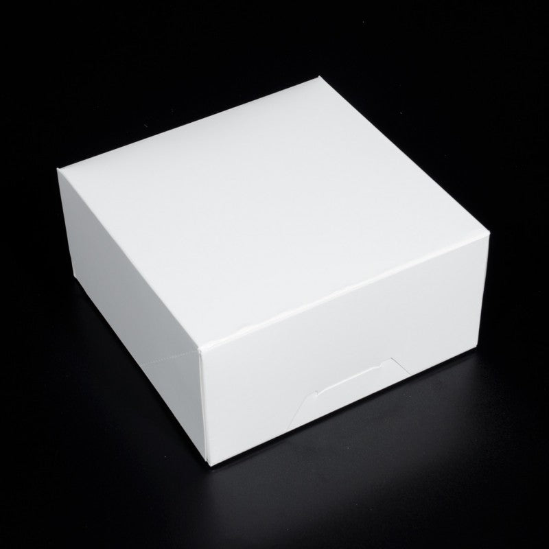 8.25 X 8.25 X 4 - Cupcake Box / Cake Box / Pie Box / Cookie Box - No Window (10 PACK)