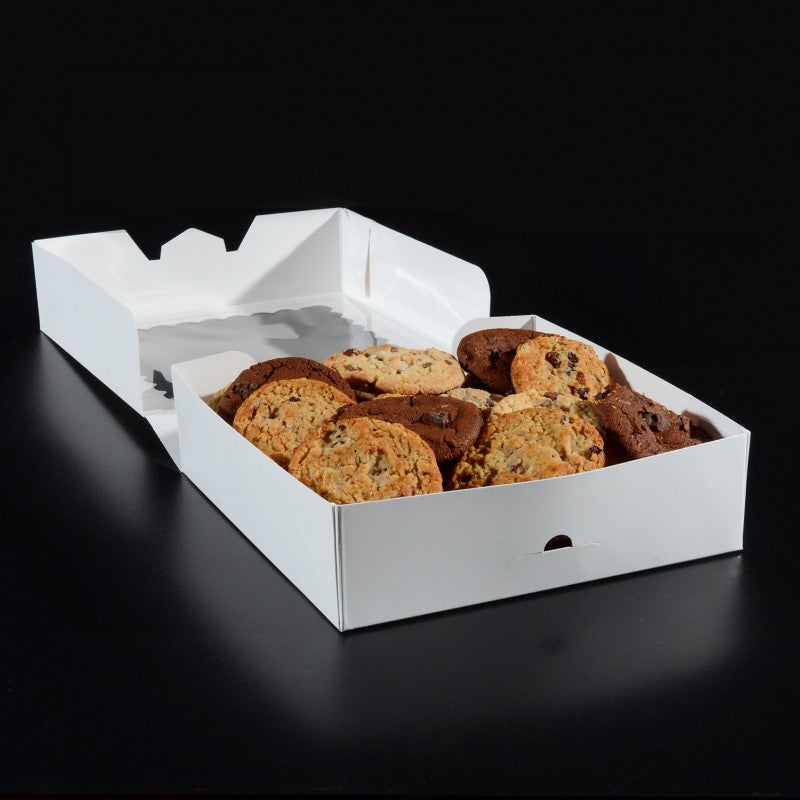 9 x 9 x 2.5 - Pie Box / Cookie Box - With Window (10 pack)
