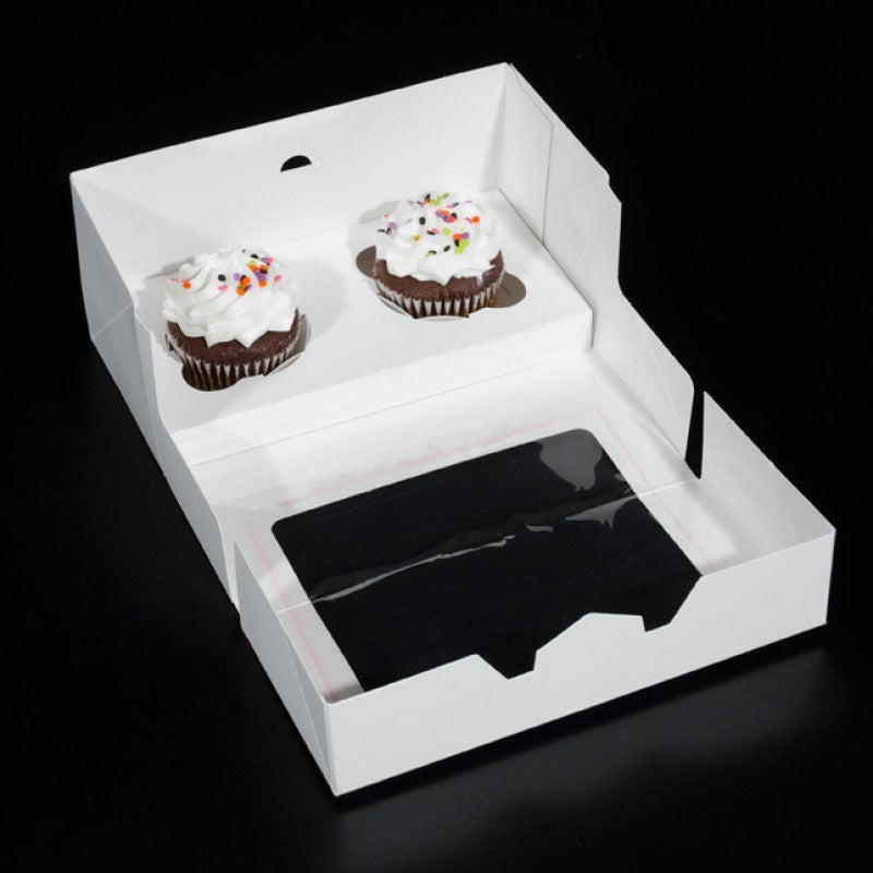 8.625 X 4.25 X 4 - Cupcake Cox / Cookie Box - With Window (10 PACK)