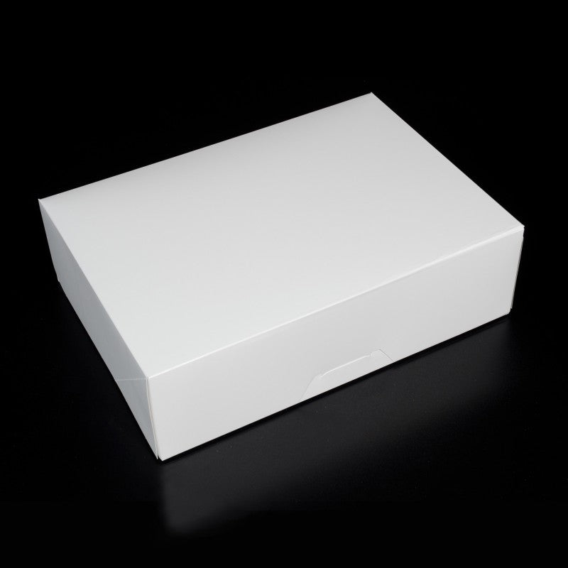 14 X 10 X 4.25 - 1/4 Sheet Cake Box / Dozen Cupcake Box / Cookie Box - No Window (10 PACK)