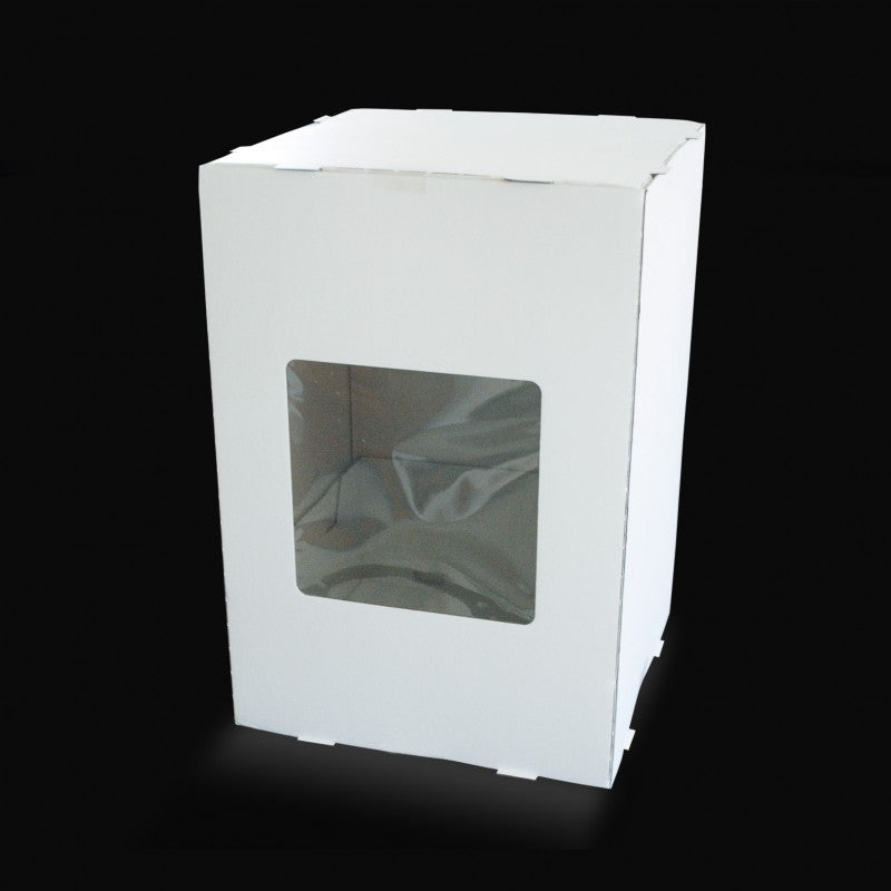12 X 12 X 18 - Tiered Cake Box - One Window (5 PACK)