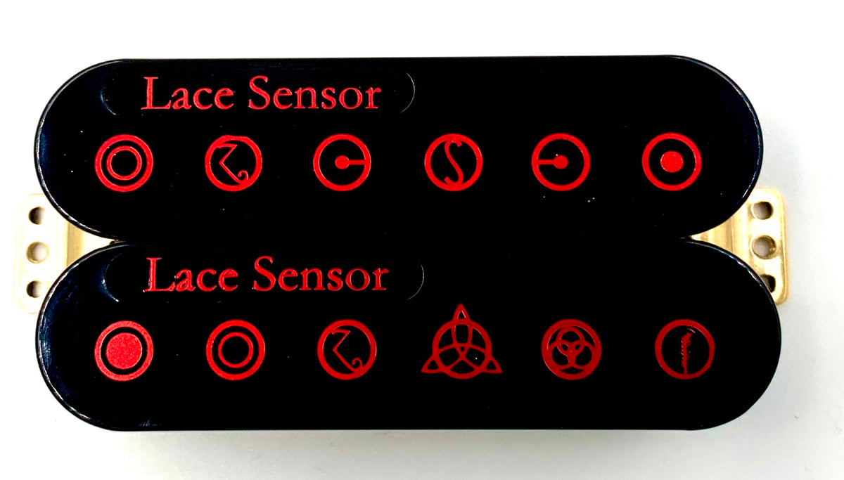 Led Sensor Red Red Dually Humbucker  U2013 Lace Music Products