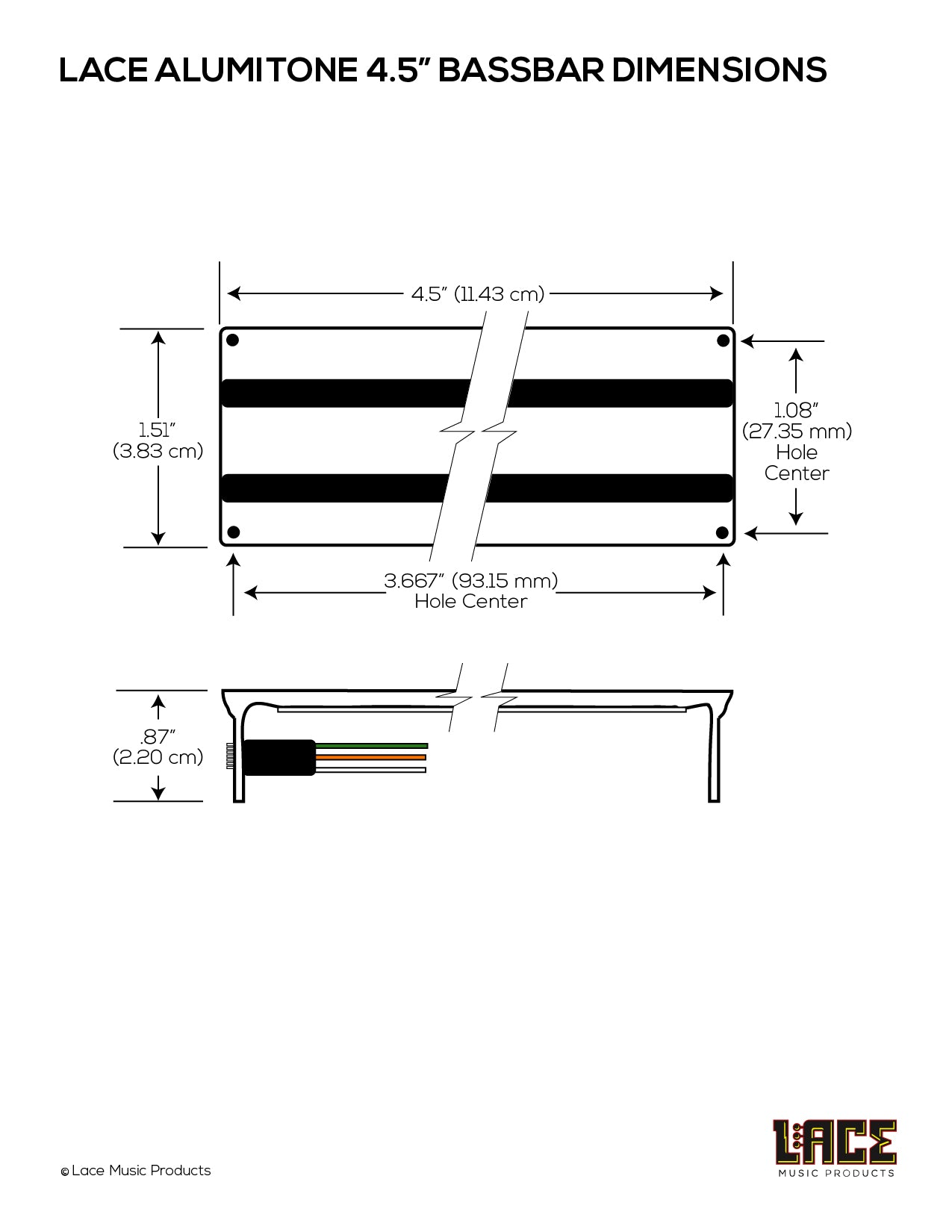 aluma bass bar 4 5 for 5 or 6 string basses 3 Way Switch Wiring Diagram