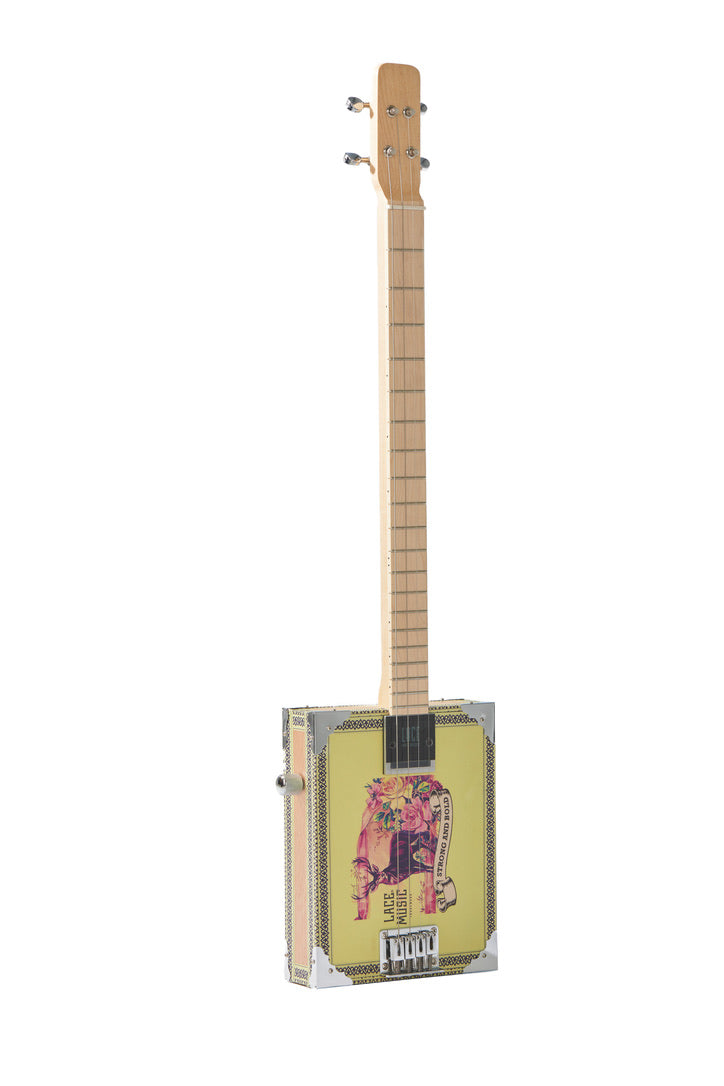 Electric Cigar Box Guitar Deer Crossing 4 String  U2013 Lace