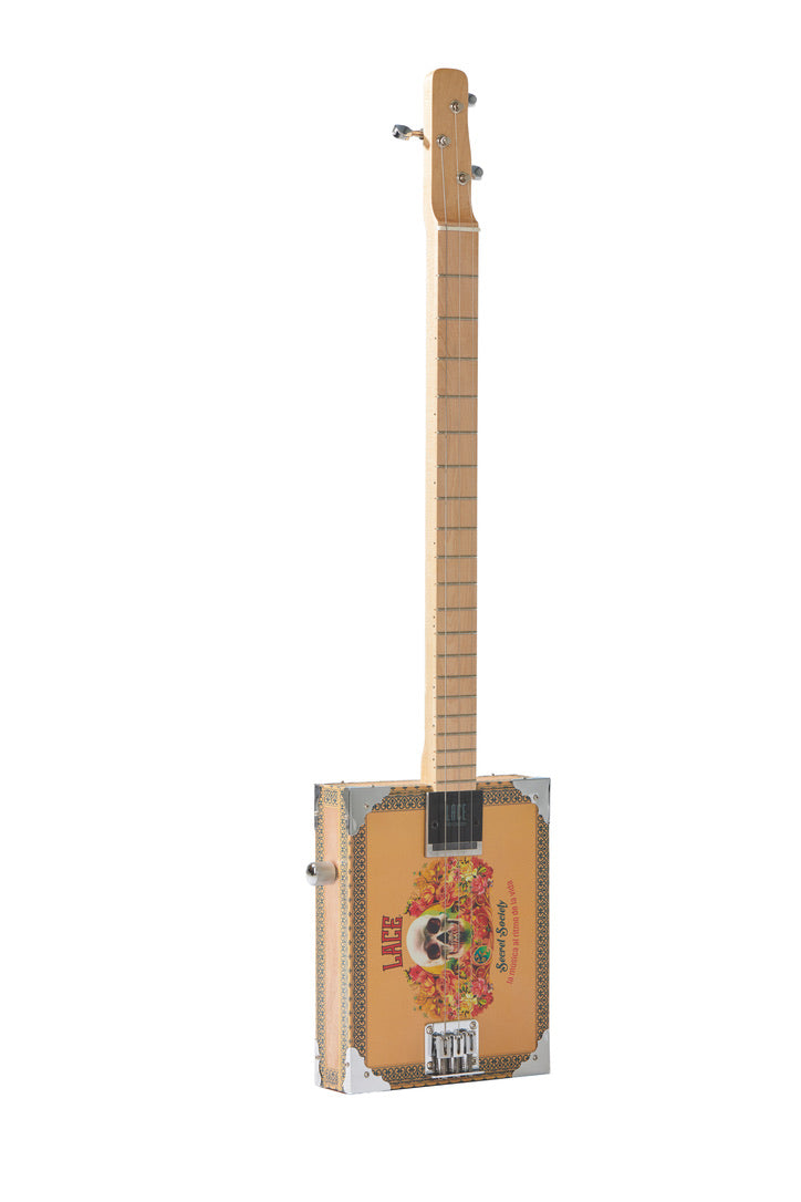 Electric Cigar Box Guitar Secret Society 3 String  U2013 Lace Music Products