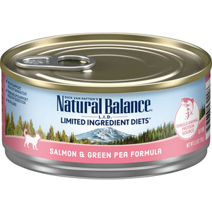 Natural Balance L.I.D. Limited Ingredient Diets Salmon & Green Pea Canned Cat Food