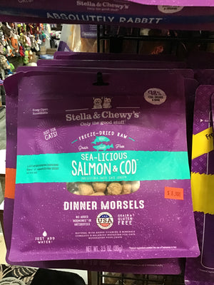SC C FD Sea-Licious Salmon  Cod Morsels 3.5oz
