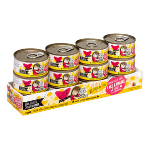Weruva BFF PLAY Take a Chance Chicken, Duck, & Turkey Dinner in a Hydrating Puree Pate Wet Cat Food (12) 2.8 oz Cans