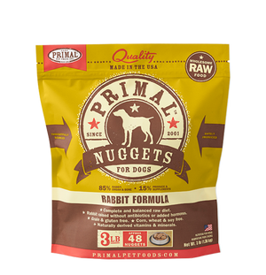 Primal Raw Frozen Canine Rabbit Nuggets Formula