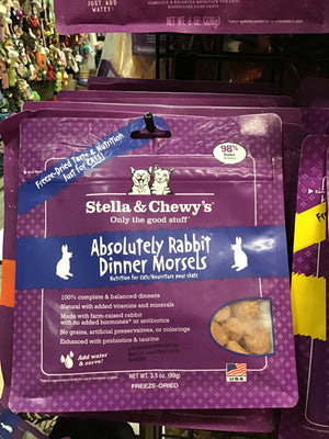 Stella and Chewy Absolutely Rabbit Freeze-Dried Raw Dinner Morsels