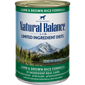Natural Balance L.I.D. Limited Ingredient Diets Lamb and Brown Rice Formula Canned Dog Food