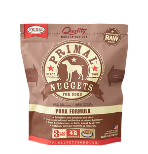 Primal Raw Frozen Canine Pork Nuggets Formula