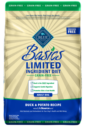 Blue Buffalo Basics Grain Free Adult Duck & Potato Recipe Dry Dog Food