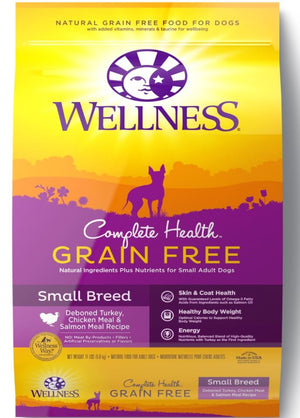 Wellness Complete Health Grain Free Small Breed Deboned Turkey, Chicken Meal and Salmon Meal Recipe Dry Dog Food