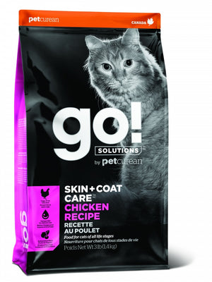 Petcurean Go! Solutions Skin + Coat Care Chicken Recipe Dry Cat Food