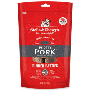 Stella & Chewy's Purely Pork Grain Free Dinner Patties Freeze Dried Raw Dog Food