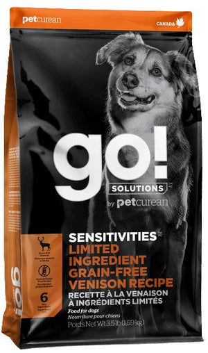 Petcurean GO! Solutions Sensitivities Limited Ingredient Venison Recipe Dry Dog Food