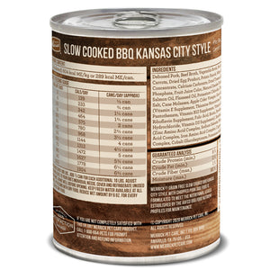 Merrick Grain Free Slow Cooked BBQ Kansas Style Pork Recipe Canned Dog Food
